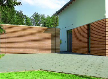 Wood-effect garage doors