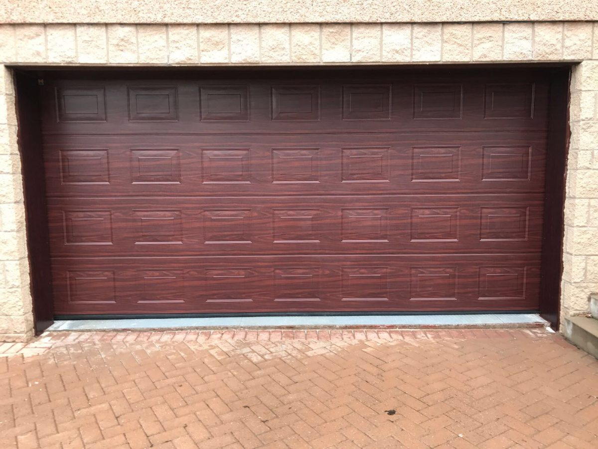 Sectional garage doors supplied fitted tayside garage doors hormann sectional square panel in rosewood rubansaba