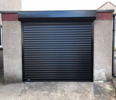 SWS Insulated Roller Door Black
